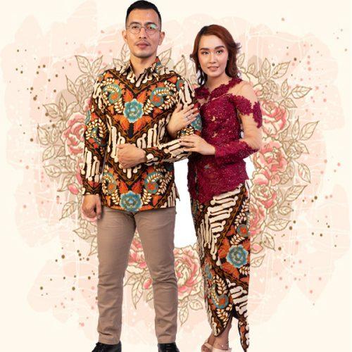 08 Baju Batik Couple Keluarga Batik Lamaran Iwan Tirta (1)